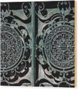 Villa Gate Wood Print