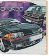 Volvo 480 Turbo Wood Print