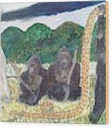 warriors of Bwindi Impenetrable  Wood Print
