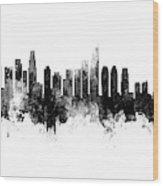 Washington Dc, Los Angeles And Buenos Aires Skyline Mashup Wood Print