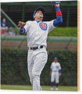 Washington Nationals V Chicago Cubs Wood Print