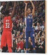 Washington Wizards V Philadelphia 76ers Wood Print