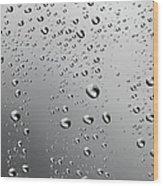 Water Drops Background Dew Condensation Wood Print
