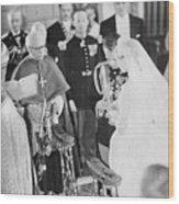 Wedding Of Prince Rainier And Grace Wood Print