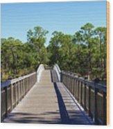 Western Lake Bridge Wood Print