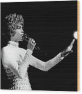 Whitney Houston Live In Concert Wood Print