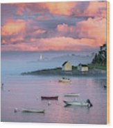 Willard Beach Sunset Wood Print