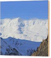 Wind Blows Over The Kenai Mountains Alaska Wood Print