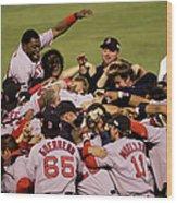 World Series Red Sox V Cardinals Game 4 Wood Print