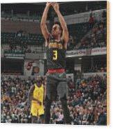 Atlanta Hawks V Indiana Pacers Wood Print