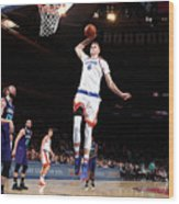 Charlotte Hornets V New York Knicks Wood Print