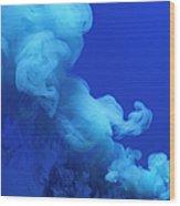 Colored Smoke Wood Print