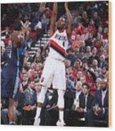 Dallas Mavericks V Portland Trail Wood Print