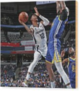Golden State Warriors V Memphis Wood Print