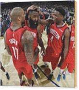 Houston Rockets V Golden State Warriors Wood Print