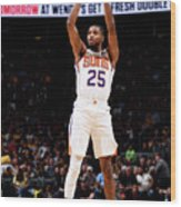 Phoenix Suns V Denver Nuggets Wood Print
