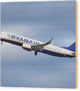 Ryanair Boeing 737-8as Wood Print