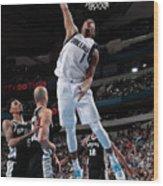 San Antonio Spurs V Dallas Mavericks Wood Print