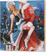 Vintage Soviet Holiday Postcard Wood Print
