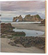 Wharariki Beach - New Zealand Wood Print