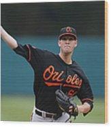 Baltimore Orioles V Detroit Tigers Wood Print