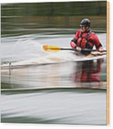 Cedar Strip Kayak Wood Print