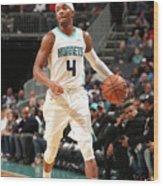 Chicago Bulls V Charlotte Hornets Wood Print