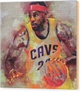 Lebron Raymone James Wood Print