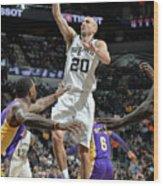 Los Angeles Lakers V San Antonio Spurs Wood Print