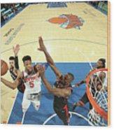 Toronto Raptors V New York Knicks Wood Print