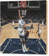 Utah Jazz V Minnesota Timberwolves Wood Print
