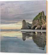 Wharariki Beach - New Zealand Wood Print