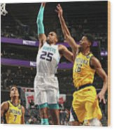 Indiana Pacers V Charlotte Hornets Wood Print