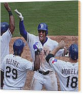 Seattle Mariners V Texas Rangers Wood Print