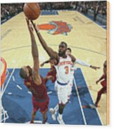 Cleveland Cavaliers V New York Knicks Wood Print