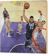 Minnesota Timberwolves V Los Angeles Wood Print