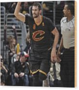 New York Knicks V Cleveland Cavaliers 13 Wood Print