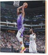 Utah Jazz V Sacramento Kings Wood Print