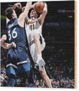 Denver Nuggets V Minnesota Timberwolves Wood Print