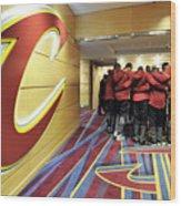 Houston Rockets V Cleveland Cavaliers Wood Print