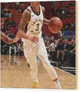 Indiana Pacers V Miami Heat Wood Print
