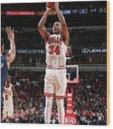 New Orleans Pelicans V Chicago Bulls Wood Print