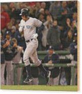 New York Yankees V Boston Red Sox 14 Wood Print
