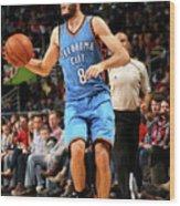 Oklahoma City Thunder V New Orleans Wood Print