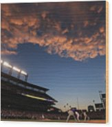 Philadelphia Phillies V Colorado Rockies Wood Print
