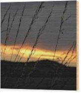 Photograph Of A Sunset Wood Print