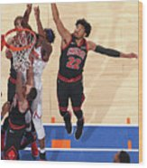 Chicago Bulls V New York Knicks Wood Print