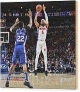Detroit Pistons V Philadelphia 76ers Wood Print