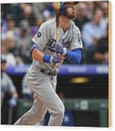 Los Angeles Dodgers V Colorado Rockies 15 Wood Print