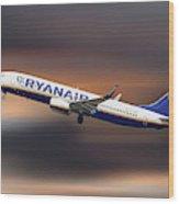Ryanair Boeing 737-8as Wood Print